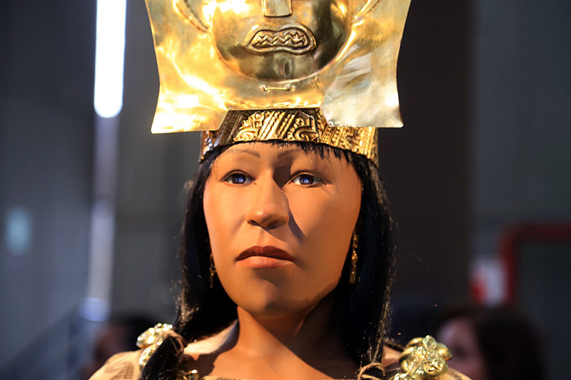 Re-creation of what the Lady of Cao would have looked like in life