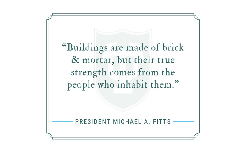 Buildings are made of steel, brick, and mortar, but their true strength comes from the people who inhabit them.