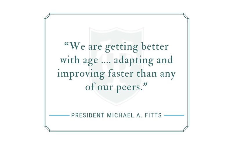 We are getting better with age -- adapting and improving faster than any of our peers.